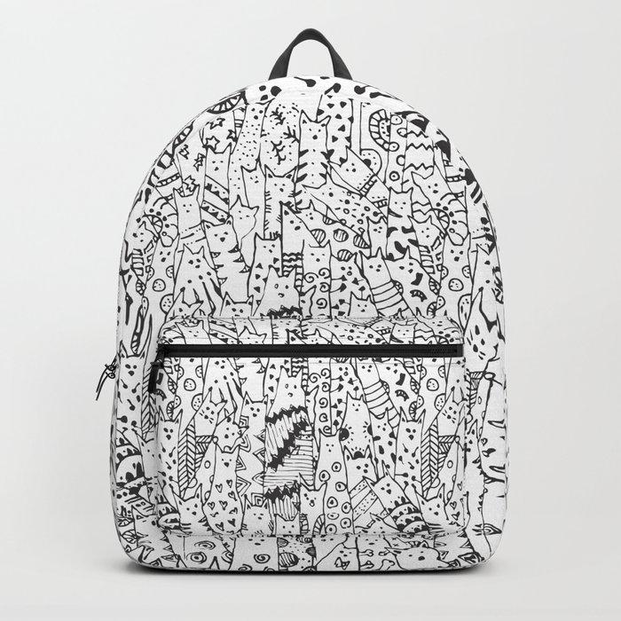 Cat Doodles Backpack
