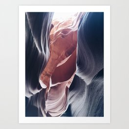 Painted Canyons Art Print