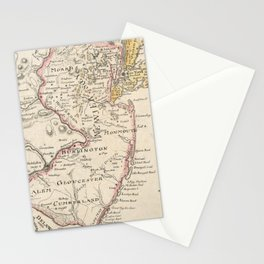 Vintage Map of New Jersey (1780) Stationery Cards