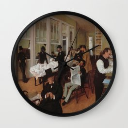 Edgar Degas's A Cotton Office in New Orleans Wall Clock