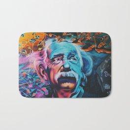 Einstein graffiti Bath Mat