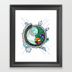 That Is No Moon! Framed Art Print