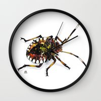 bug Wall Clocks featuring Bug by MSRomeiro