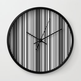 Barcode Pattern Wall Clock