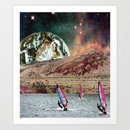 First Annual Mars Windsurf Race Art Print
