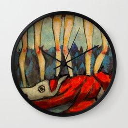 Five Little Red Riding Hoods 2 Wall Clock