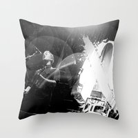 queens of the stone age Throw Pillows featuring Josh Homme (Queens of the Stone Age) - I by Tomás Correa Arce (RockMe TommyBoy)
