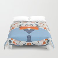 swedish Duvet Covers featuring Swedish Lava by Pearlyn Chiam