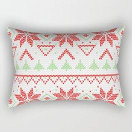 Knitted Christmas retro pattern Rectangular Pillow