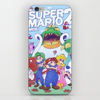 mario bros iPhone & iPod Skins featuring Mario Bros. 2 nostalgia  by Damon Fernandez