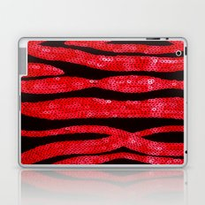 Zebra Print and Red Glitters  Laptop & iPad Skin