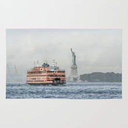 Staten Island Ferry & Statue of Liberty Rug