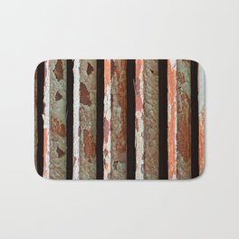 Rusty Radiator Bars Bath Mat