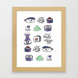 Galaxy Sushi Framed Art Print