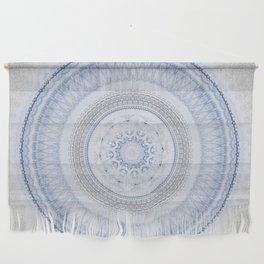 Elegant Blue Silver China Inspired Mandala Wall Hanging