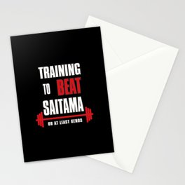 Training to beat saitama Stationery Cards