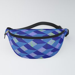 Geometric Marquetry With Variegated Marbled Colors Fanny Pack