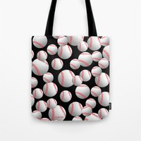 baseball Tote Bags featuring Baseball by joanfriends