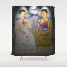 Two Fridas Shower Curtain