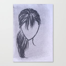 Girl with Side Ponytail Canvas Print