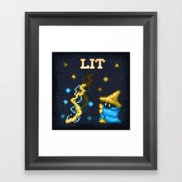 B Mage LIT Framed Art Print