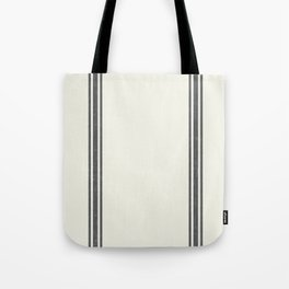 Vintage Country French Grainsack Grey Gray Stripes Cream Background Tote Bag