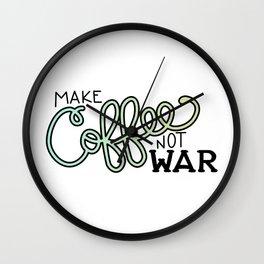 Coffee Not War (Seaside) Wall Clock