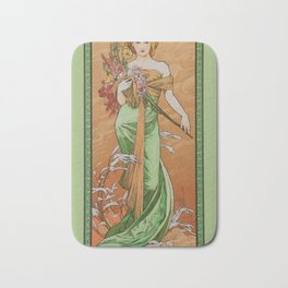 "Alphonse Mucha ""The Seasons (series): Spring"" (1900) Bath Mat"
