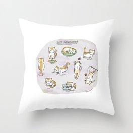 Cat Activities Throw Pillow