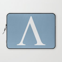 Greek letter lambda sign on placid blue background Laptop Sleeve