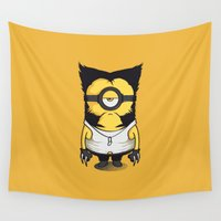 polkadot Wall Tapestries featuring X-MINION by bimorecreative