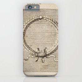 Hugo de Groot's Syntagma Arateorum 1600 - 03 Corona iPhone Case