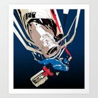 gravity Art Prints featuring gravity by wonman kim