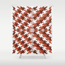 Eagles and Flowers and Eagles Shower Curtain