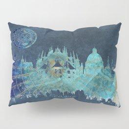 Prague skyline blue Pillow Sham