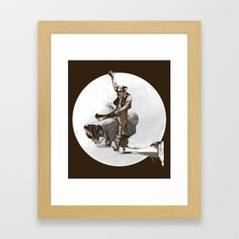 Media Rodeo: Big Brother is watching you Framed Art Print