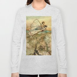 """Bear the Changeling to My Bower"" Art by Arthur Rackham Long Sleeve T-shirt"