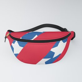 Red Stripes with Blue and Stars Fanny Pack