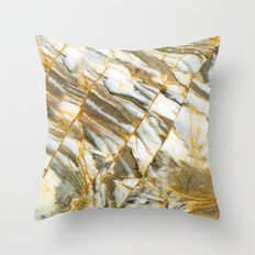 Arabescato Marble Throw Pillow