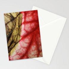 Decaying Begonia Rex Leaf Stationery Cards