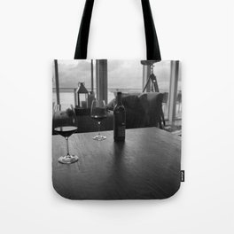 Overcast Red Tote Bag