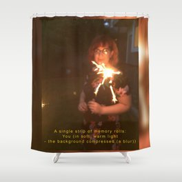 A Single Strip of Memory Rolls Shower Curtain