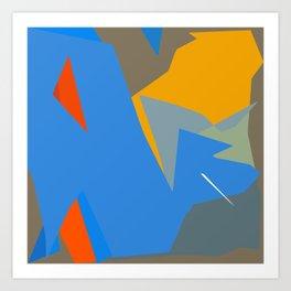 Deep in the wordly ocean Art Print