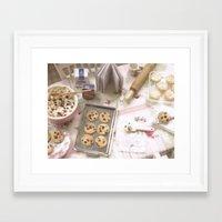 baking Framed Art Prints featuring Baking Memories by Miniature Love