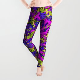 Abstract Hand Pattern Leggings