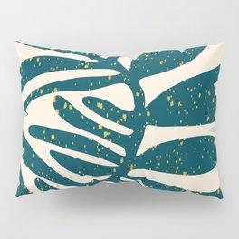 Floral Art Print - Mid century modern, mid-century wall art, print, geometric wall art, abstract wal Pillow Sham