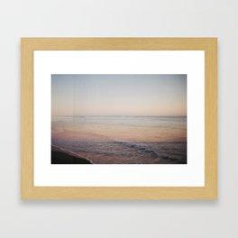Ocean Beach Double Exposure Framed Art Print
