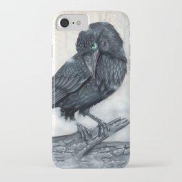 El ve a través del cuervo y controla la niebla iPhone Case