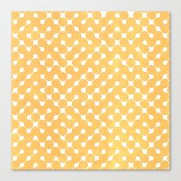 Orange Grunge Texture Canvas Print