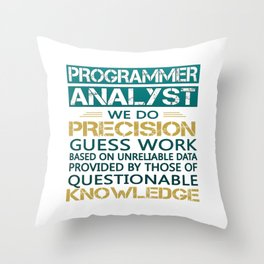 Programmer Analyst Throw Pillow